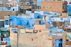 城市印度屋顶 免版税库存图片