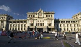 城市危地马拉国民宫殿 免版税库存照片