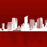 城市反映向量 免版税库存照片