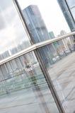 城市反映视窗 库存图片