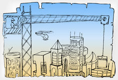 城市发展 免版税库存照片