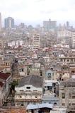 城市古巴哈瓦那顶视图 库存图片