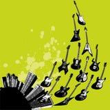 城市吉他 免版税图库摄影