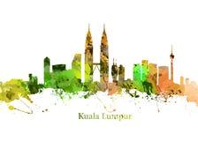 城市吉隆坡地平线 库存图片