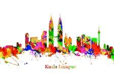 城市吉隆坡地平线 图库摄影