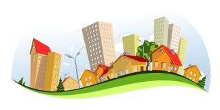 城市向量 免版税库存图片