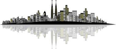 城市向量 免版税库存照片