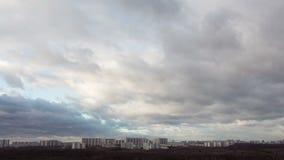 城市和云彩时间间隔  股票录像