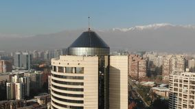 城市和公寓鸟瞰图在智利 影视素材
