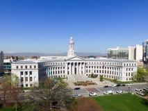 城市和县大厦在丹佛 免版税库存照片