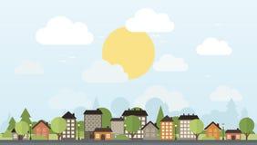 城市和树 库存图片