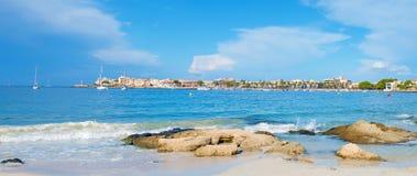 城市和海湾的看法 免版税库存图片