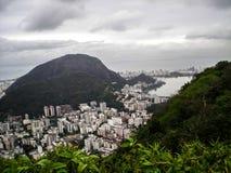 城市和自然的对比在巴西 库存图片