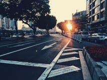 城市和阳光 免版税库存照片