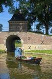 城市和水闸Boerenboom在恩克赫伊森 库存图片