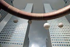 城市喷泉新加坡suntec财富 免版税库存照片