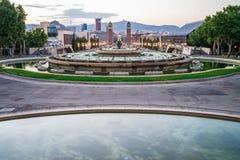 城市喷泉巴尔卡角 库存照片