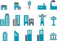 城市图标集 向量例证