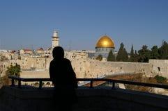 城市圆顶耶路撒冷老t 免版税库存图片
