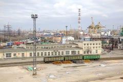 城市圣彼得堡口岸 免版税库存图片