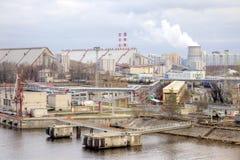 城市圣彼得堡口岸 库存图片
