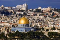 城市圣洁耶路撒冷 免版税库存图片