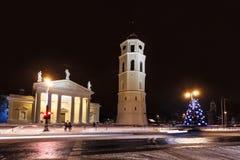 城市圣诞树 免版税库存照片