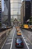 城市在公园大道的街道生活 免版税库存图片