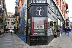 城市在旧金山点燃书店 库存图片
