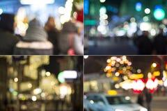 城市在晚上 图库摄影