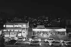城市在晚上 免版税图库摄影
