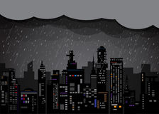 城市在晚上 库存图片