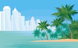 城市在热带 免版税库存照片