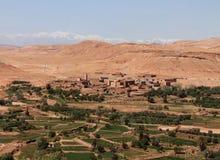 城市在瓦尔扎扎特附近的Ait Benhaddou在摩洛哥 免版税图库摄影