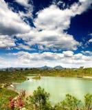 城市在风景附近的横向lijiang 库存照片