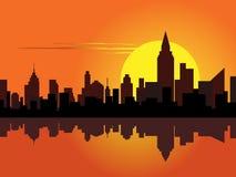 城市在黎明 图库摄影