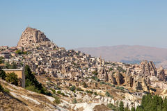 洞城市在Cappadocia,土耳其 图库摄影