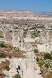 洞城市在Cappadocia,土耳其 库存照片