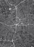 城市地图亚特兰大,单色详细计划,传染媒介例证 向量例证