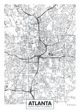 城市地图亚特兰大,旅行传染媒介海报设计 皇族释放例证
