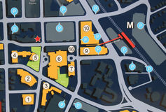 城市地图 免版税库存照片