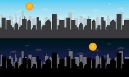 城市地平线传染媒介 库存照片