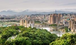 城市地平线台北 免版税图库摄影