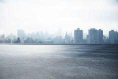 城市地平线墙纸 库存照片