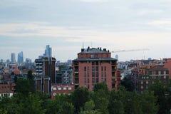 城市地平线视图 免版税库存图片