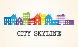 城市地平线设计 库存图片