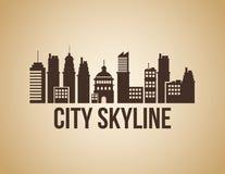 城市地平线设计 免版税图库摄影