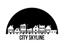 城市地平线设计 免版税库存照片