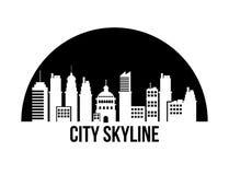 城市地平线设计 免版税库存图片