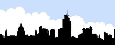 城市地平线-传染媒介例证 皇族释放例证
